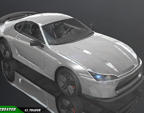 realtime lowpoly Mobile Ready Racing Super Car 3D Model