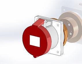 3D model Plug 63A 3P N G IE