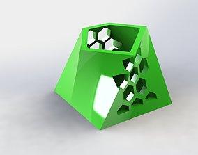 3D printable model Angular Pen Holder Hive