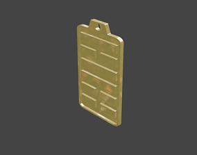 3D print model rgd lu hexagram pendant