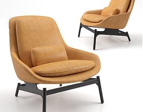 Blu Dot Leather Field Lounge Chair 3D model chair