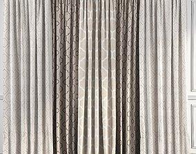 3D model Curtain Set 46