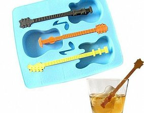 Guitar shape ice cube mold 3D printable model