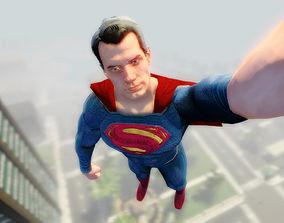 Superman HQ Film 3D Model rigged