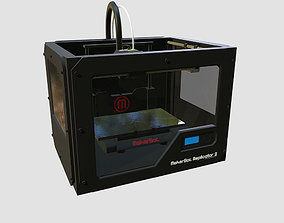 Makerbot Replicator 2 3d printer realtime