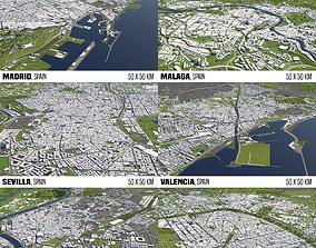 Spain 6 Cities 3D