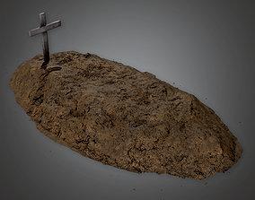 CEM - Cemetery Grave 1 - PBR Game Ready 3D asset