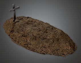 3D model Cemetery Grave 1 CEM - PBR Game Ready