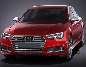 Audi S4 sedan 2017 VRAY 3D model