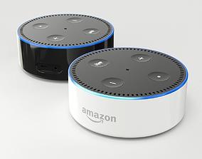 Amazon Echo Dot 2nd Generation 3D model black