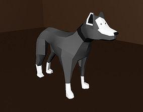 3D asset Dog with Materials