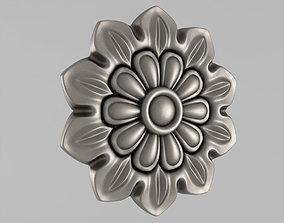 Decor Rosettes carved 3D printable model