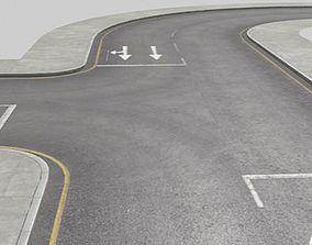 Roads Construction Kit 3D asset