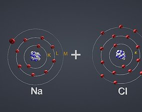 Ionic Bond NaCl 3D model