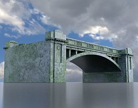 Bridge overpass 3D model game-ready