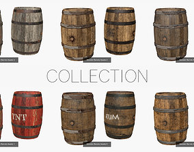 3D model Wooden Barrel Assets Collection