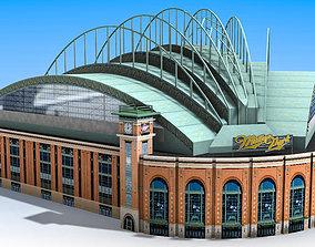 3D asset Miller Park Stadium