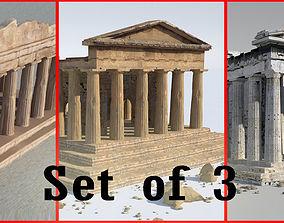 Parthenon-Set of 3 3D model