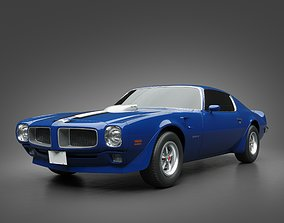 3D model 1971 Pontiac Firebird TransAm