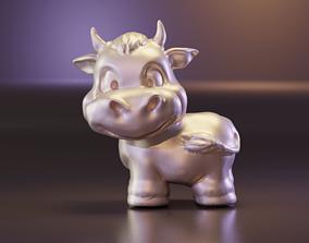 Cartoon sweet bull 2021 3D print model