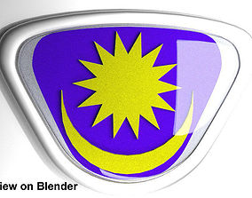 Crest Logo Proton Car classic design 3D