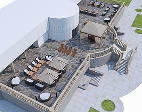 3D model Luxury Terrace with Furniture