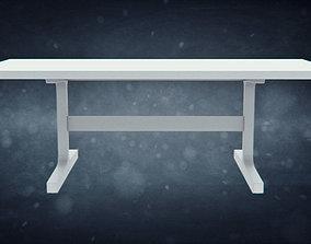 Wood Trestle Table for BDDW 3D model