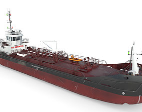 3D model TANKER DWT800 Low-poly Black