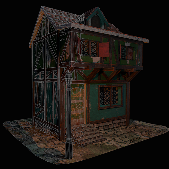 Blacksmith House - Medieval Low-poly 3D model