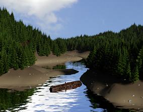 3D model 1st Peaceful Lake