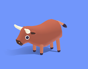 3D asset Bravo the Bull - Quirky Series