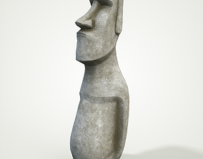 Moai statue 4k Bonus Printable 3D asset