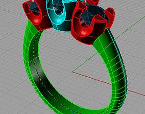 Women Trilogy Ring For Wedding Anello 3D printable model 1