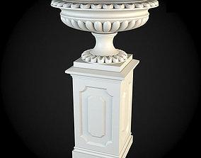 architecture 3D model Pedestals