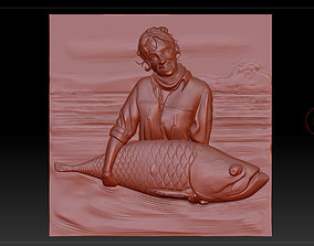 3D print model the girl with the fish