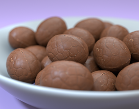 Easter chocolate egg model photoscan game-ready