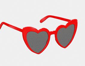 Saint Laurent Eyewear Heart Frame Sunglasses 3D asset