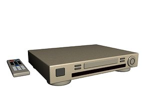 3D DVD player and remote control