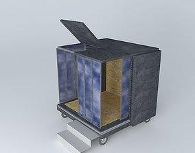 CUBE concrete cube in my garden 3D model
