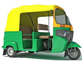 Auto Rickshaw Bajaj TukTuk 3D model