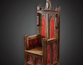 MVL - Throne - PBR Game Ready 3D model