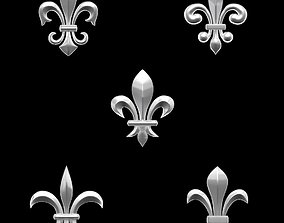 3D printable model Heradlry Pack Fleur-de-Lys for jewelry