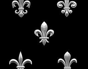 3D printable model Heradlry Pack Fleur-de-Lys for jewelry
