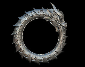 Dragon Eating Its Own Tail 3D print model