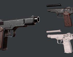 Stechkin Gun 3D asset
