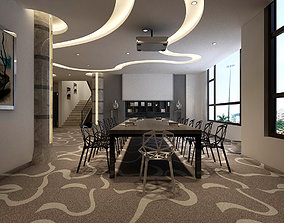 3D Conference room office reception hall 07
