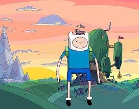 rigged Finn - Adventure Time 3D Model