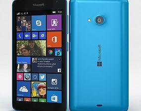 3D asset Microsoft Lumia 535 and Dual SIM Blue