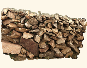 Free Scanned Nature Stone Wall 3D