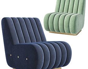 3D model Sophia Velvet 2 Seat Sofa Essentialhome
